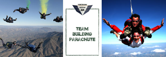 team building parachute Team Building Air