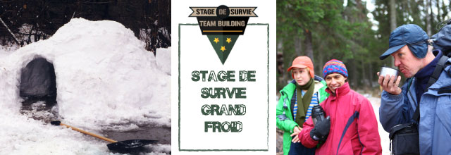 sds grand froid Stage de survie grand froid