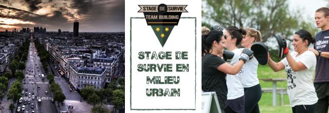 sds urbain Stage de survie en milieu urbain